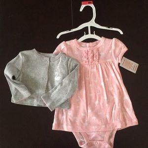 Baby Girls Dress and matching sweater